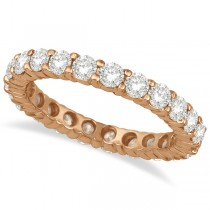 Diamond Eternity Ring Wedding Band 14k Rose Gold (4.00ct)