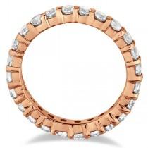Diamond Eternity Ring Wedding Band 14k Rose Gold (4.00ct)