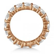 Diamond Eternity Ring Wedding Band 18k Rose Gold (5.00ct)