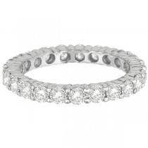 Diamond Eternity Ring Wedding Band 18k White Gold (2.50ct)