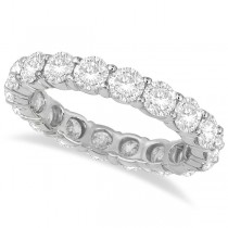 Diamond Eternity Ring Wedding Band 18k White Gold (3.75ct)