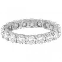 Diamond Eternity Ring Wedding Band 18k White Gold (3.75ct)