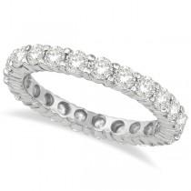 Diamond Eternity Ring Wedding Band 14k White Gold (4.00ct)