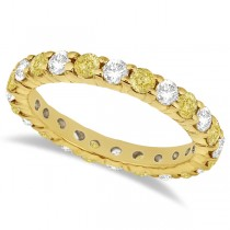 Canary Yellow & White Diamond Eternity Ring 14k Yellow Gold (2.00ct)