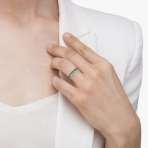Princess-Cut Emerald Eternity Ring Band 14k White Gold (1.36ct)