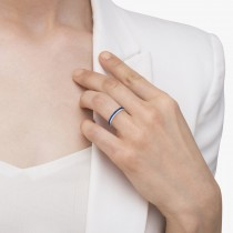 Princess-Cut Blue Sapphire Eternity Ring Band 14k White Gold (1.36ct)|escape