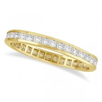 Princess-Cut Diamond Eternity Ring Band 14k Yellow Gold (1.16ct)