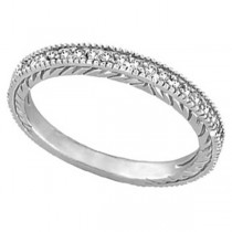 Diamond Wedding Ring Band in 14K White Gold (0.31 ctw)