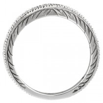 Black Diamond Stackable Ring Guard w/ Milgrain Edges Palladium (0.312 ct)