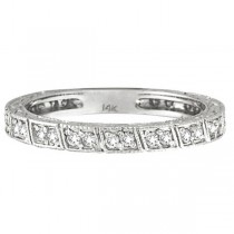 Diamond Stackable Anniversary Band in 14k White Gold (0.33 ctw)