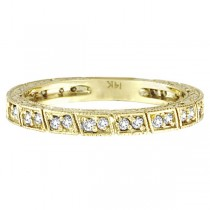 Diamond Stackable Anniversary Band in 14k Yellow Gold (0.33 ctw)