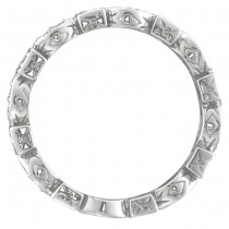 Antique Style Diamond Eternity Ring Band in 14k White Gold (0.36ct)|escape