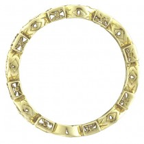Yellow & White Diamond Eternity Antique Ring 14k Yellow Gold (0.50ct)