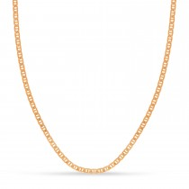 Mariner Chain Necklace With Lobster Lock 14k Rose Gold