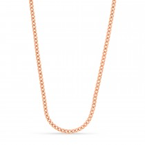 Miami Cuban Chain Necklace 14k Rose Gold