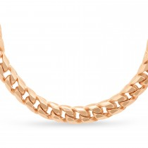 Franco Chain Necklace 14k Rose Gold