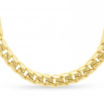 Franco Chain Necklace 14k Yellow Gold