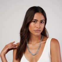 Large Miami Cuban Chain Necklace 14k White Gold