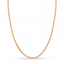 Small Miami Cuban Chain Necklace 14k Rose Gold