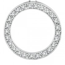 Diamond Circle Pendant Necklace in 14k White Gold (0.53 ctw)