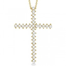 Diamond Cross Pendant Necklace 14kt Yellow Gold (1.00ct)