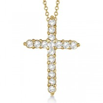 Diamond Cross Pendant Necklace 14kt Yellow Gold (0.50ct)