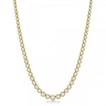 Eternity Diamond Tennis Necklace 14k Yellow Gold (10.35ct)