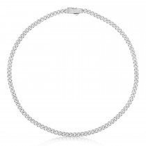 Diamond Link Chain Necklace 14k White Gold (6.24ct)