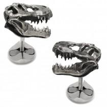 Men's Sterling Silver T-Rex Dinosaur Skull Cuff Links