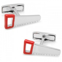 Men's Sterling Silver Saw Cuff Links