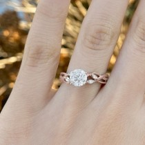 Diamond Marquise Vine Leaf Engagement Ring Setting 14k Rose Gold (0.20ct)