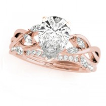 Twisted Pear Diamonds Bridal Sets 14k Rose Gold (1.23ct)