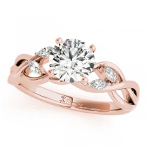 Twisted Round Diamonds Bridal Sets 14k Rose Gold (1.23ct)