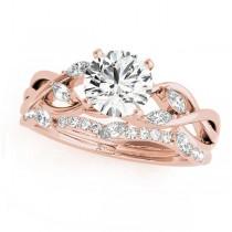 Twisted Round Diamonds Bridal Sets 14k Rose Gold (1.73ct)
