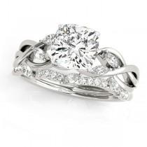 Twisted Cushion Diamonds Bridal Sets 14k White Gold (1.73ct)