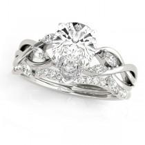Twisted Pear Diamonds Bridal Sets 14k White Gold (1.73ct)