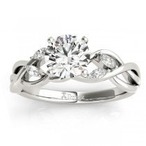 Diamond Marquise Vine Leaf Bridal Set Setting 14k White Gold (0.43ct)