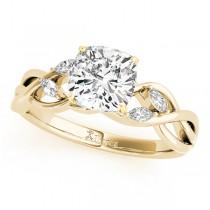 Twisted Cushion Diamonds Bridal Sets 14k Yellow Gold (1.73ct)