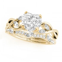 Twisted Heart Diamonds Bridal Sets 14k Yellow Gold (1.73ct)
