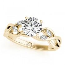 Twisted Round Diamonds Bridal Sets 14k Yellow Gold (0.73ct)