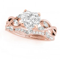 Twisted Heart Diamonds Bridal Sets 18k Rose Gold (1.23ct)
