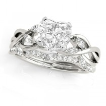 Twisted Heart Diamonds Bridal Sets 18k White Gold (1.23ct)