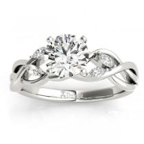 Diamond Marquise Vine Leaf Bridal Set Setting 18k White Gold (0.43ct)