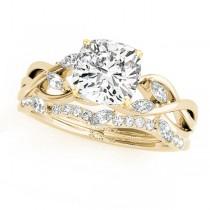Twisted Cushion Diamonds Bridal Sets 18k Yellow Gold (1.23ct)