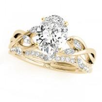 Twisted Oval Diamonds Bridal Sets 18k Yellow Gold (1.73ct)