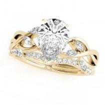 Twisted Pear Diamonds Bridal Sets 18k Yellow Gold (1.73ct)