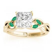 Twisted Princess Emeralds & Diamonds Bridal Sets 14k Yellow Gold (1.73ct)