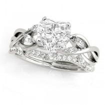 Twisted Heart Diamonds Bridal Sets Palladium (1.23ct)