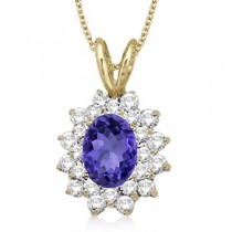 Tanzanite & Diamond Accented Pendant 14k Yellow Gold (1.60ctw)
