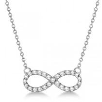 Twisted Infinity Diamond Pendant Necklace 14k White Gold (0.50ct)|escape